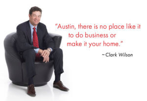 Clark Wilson sitting in a chair local austin homebuilder