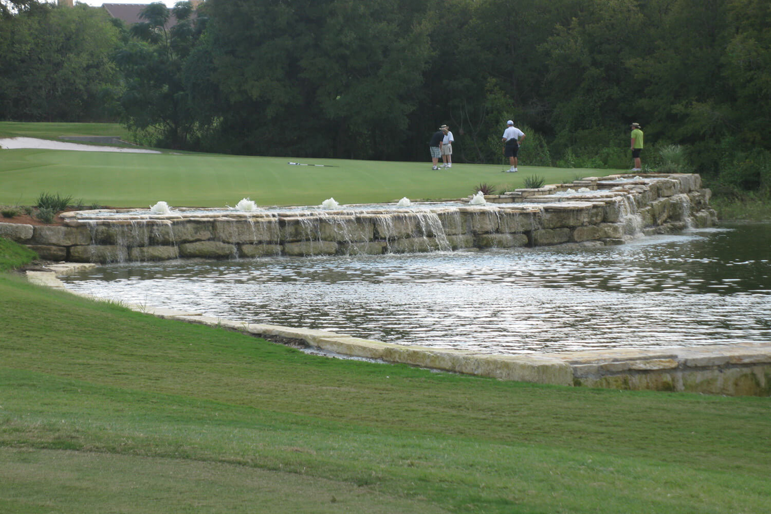 Waterfall on golf course at star ranch