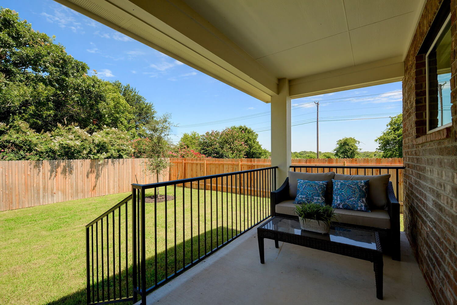 Walden Square Model Home Covered Patio Photo