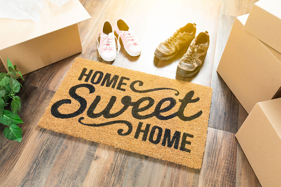 Home Sweet Home Door Mat Photo for 7 Tips to Make Your Last-Minute Move Easier Blog