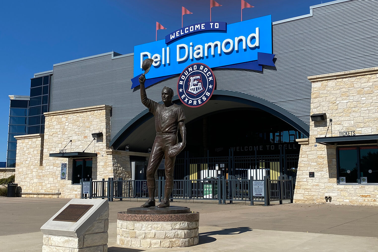 Dell Diamond Entrance Photo