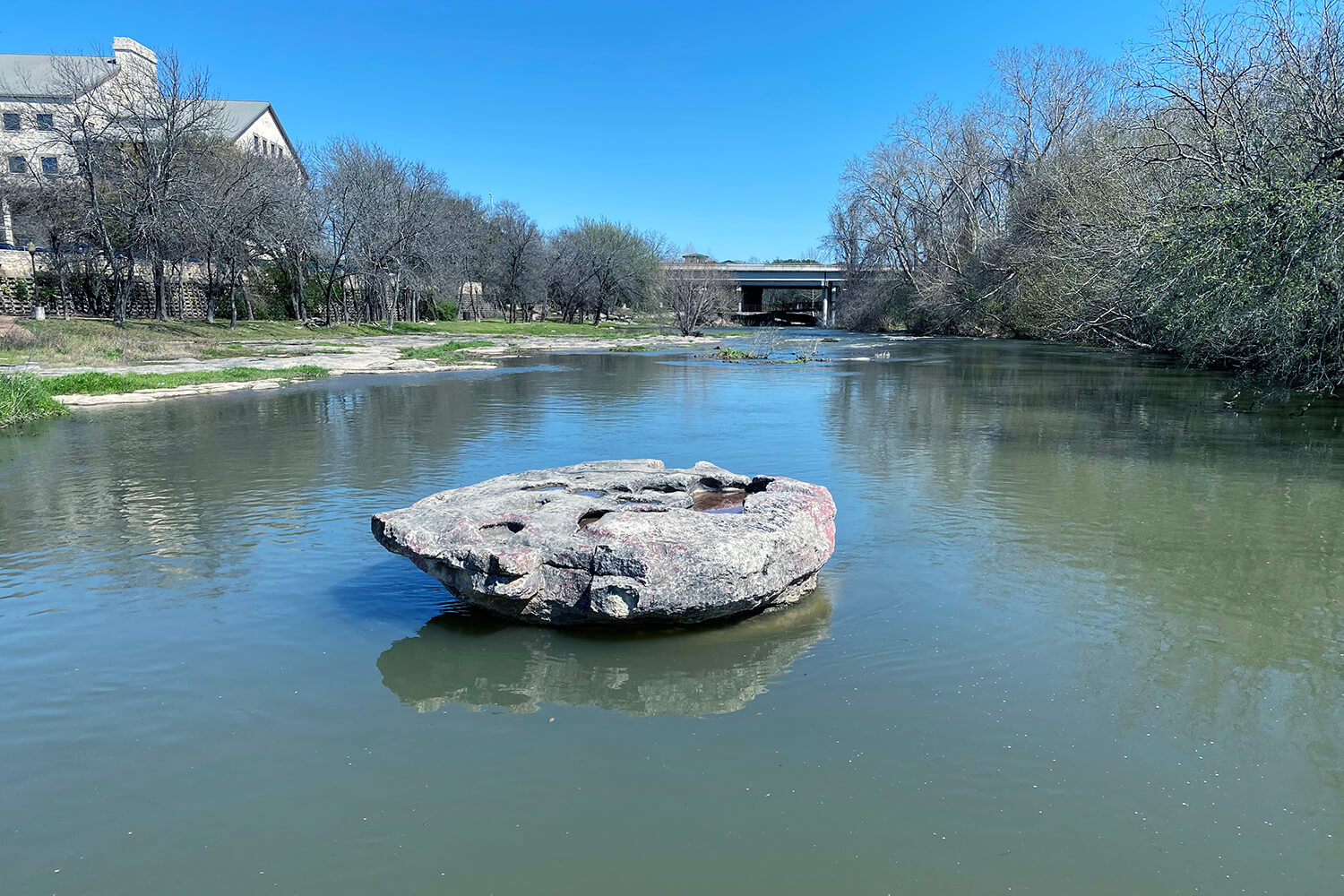 The Round Rock in creek Photo
