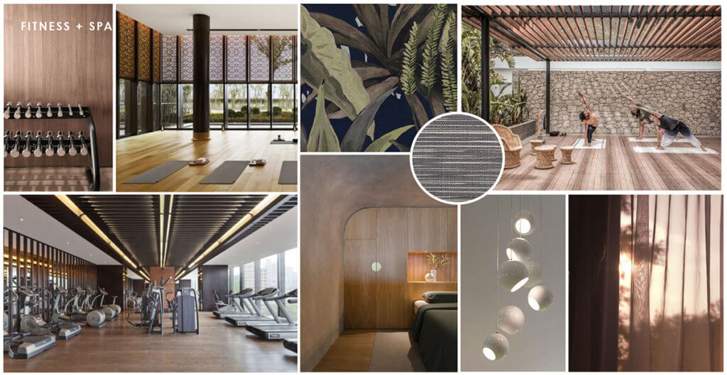 The Jovie Fitness Gym and Spa Textures and Finishes