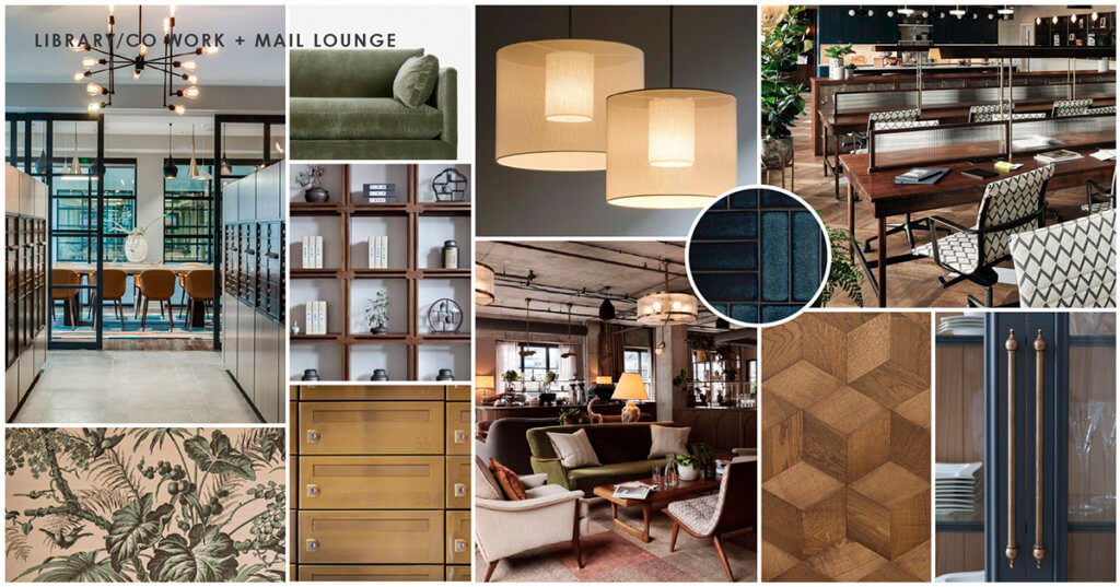 The Jovie Library and Co-Work Space Textures and Finishes