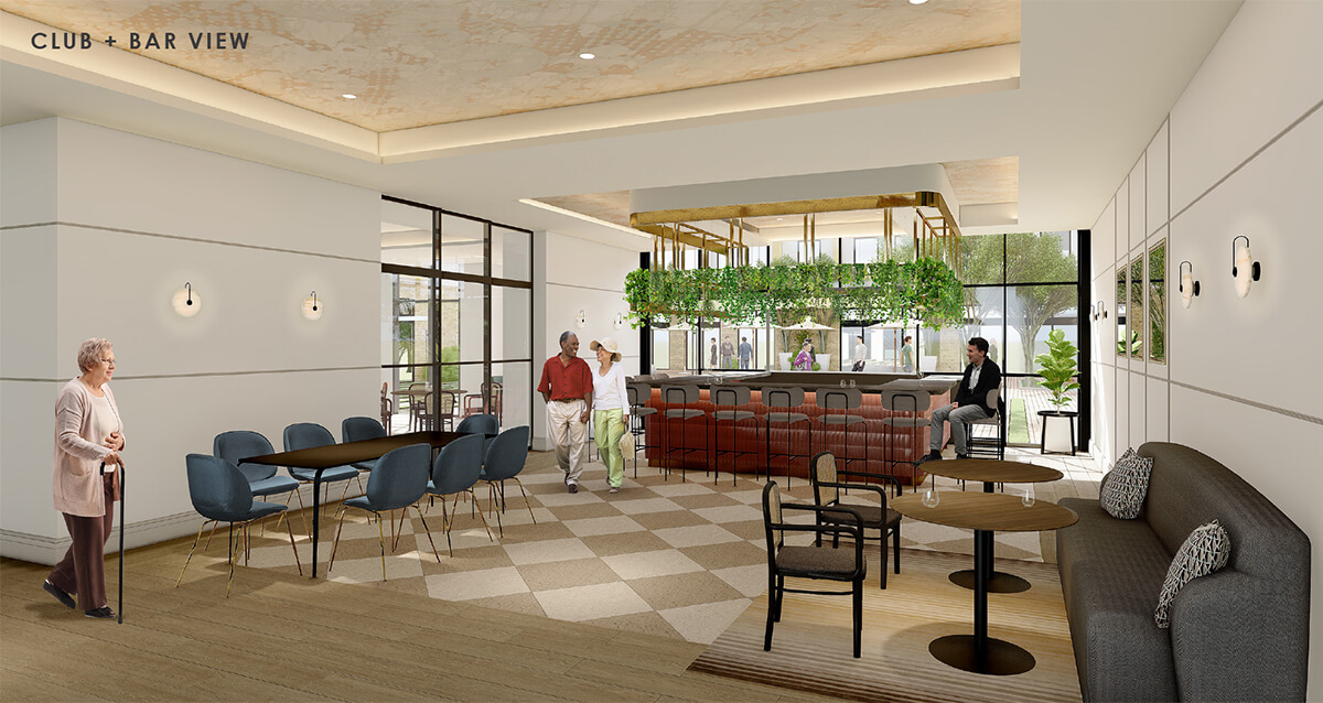 Rendering of The Jovie Club and Bar