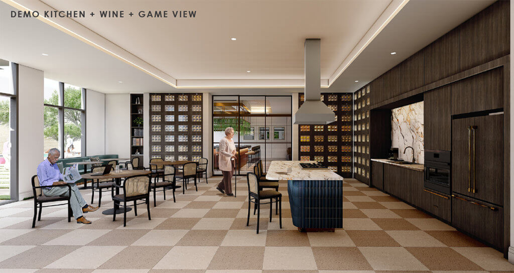 Rendering of The Jovie Demo Kitchen and Wine