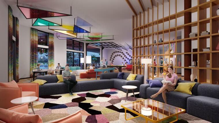 The Sommery Clubroom Rendering