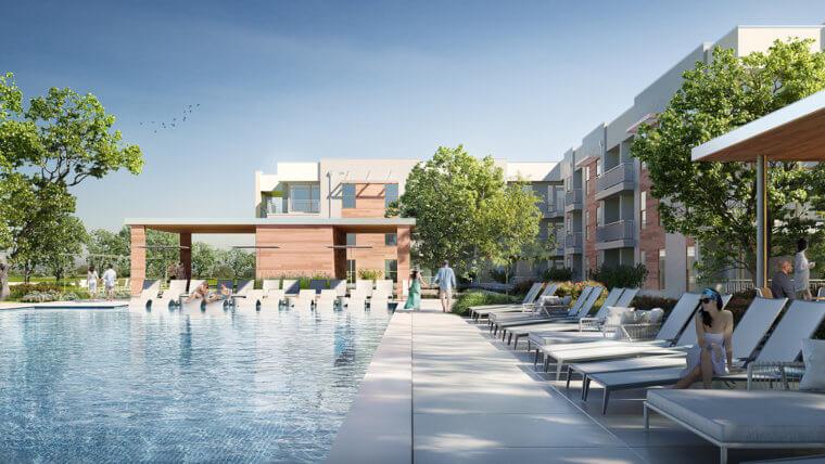 The Sommery Pool Rendering