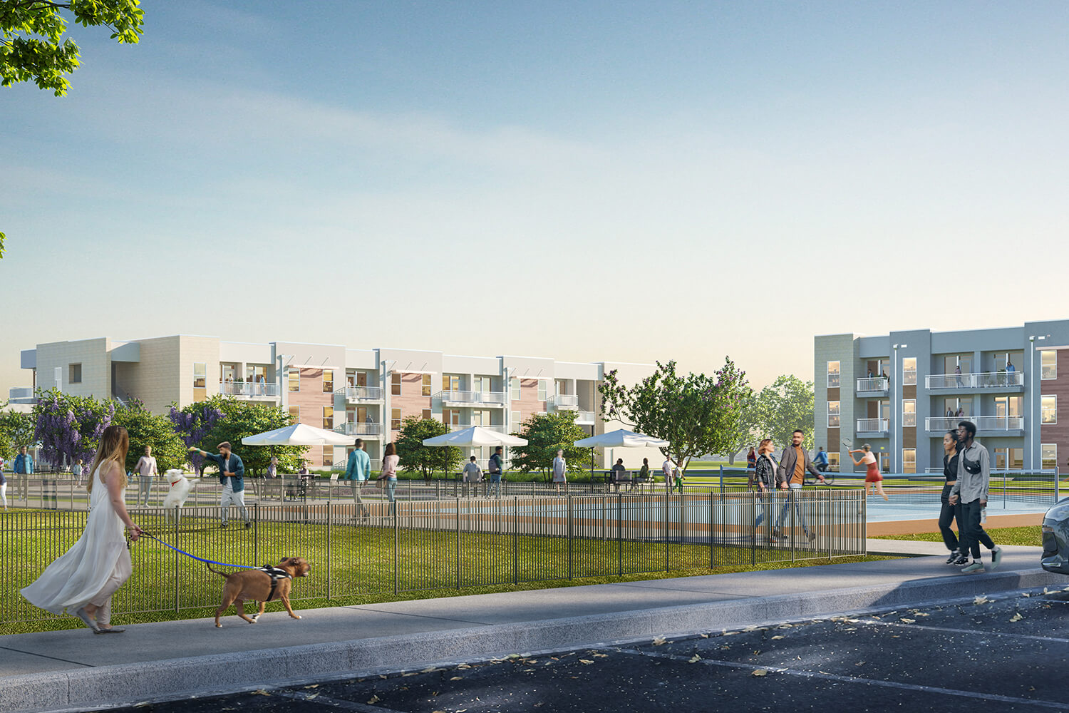 The Sommery Tennis Courts & Dog Park Rendering